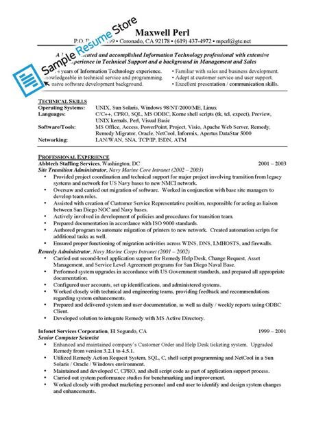 Pre Sales Consultant Resume Template by Sle Resume Pre Sales Consultant Do S And Don Ts For