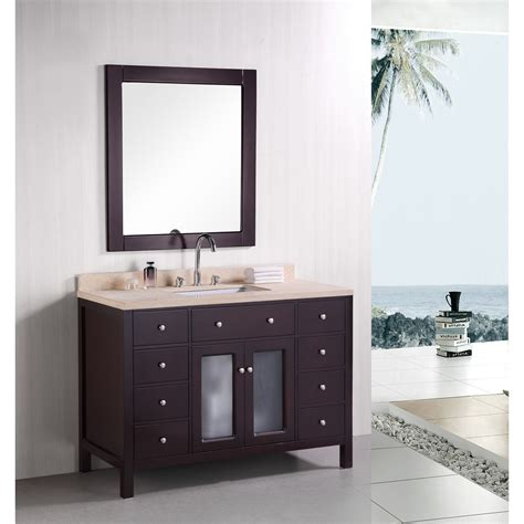 design element venetian  single sink bathroom vanity