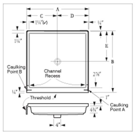 Shower Receptor Florestone Saflor 174 Recess Shower Receptors