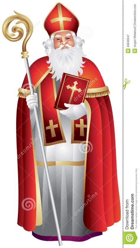 heilige nikolaus sinterklaas saint nicholas stock vector