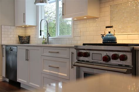 how to do a backsplash in a kitchen distant grey shaker style kitchen comox 9729