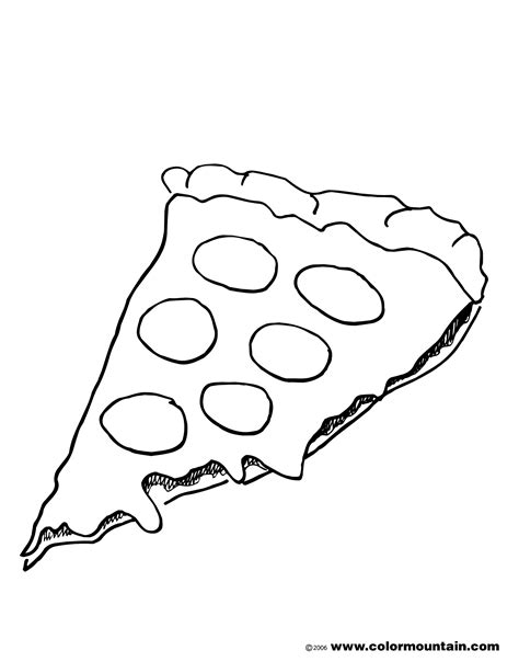 pizza clipart black and white free coloring pages of pizza clipart