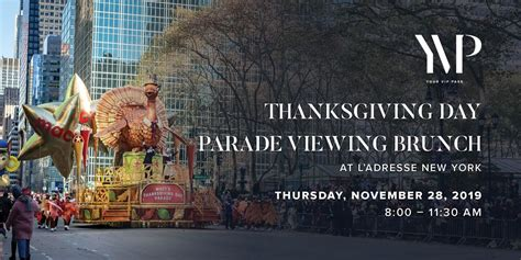 thanksgiving day parade viewing brunch  ladresse