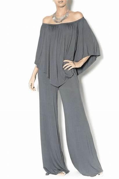 Jumpsuit Pants Palazzo Shoulder Joi Formal Outfit