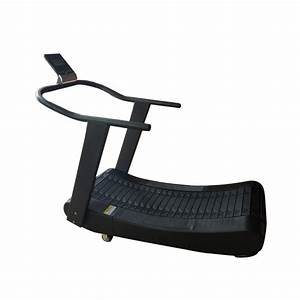 China New Fashion Black Commercial Self Powered Treadmill