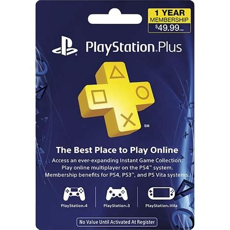 sony playstation month subscription card