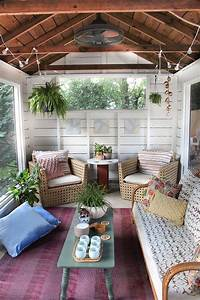 screened porch decorating ideas 27 Screened And Roofed Back Porch Decor Ideas - Shelterness