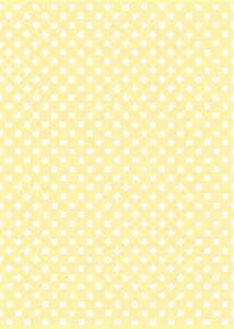Yellow Polka Dot Printable