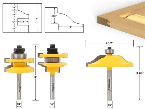 cabinet door router bit set yonico 12338q raised panel cabinet door router bit set