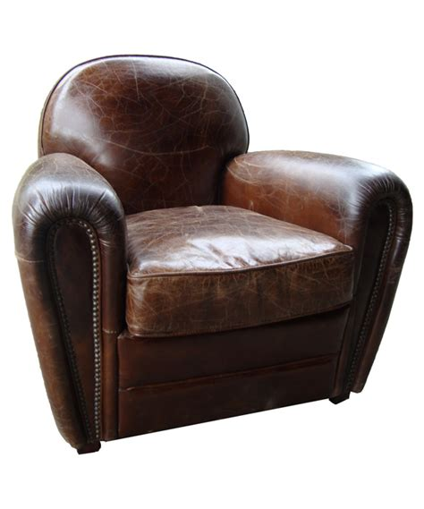pomax vintage leather club armchair cigare