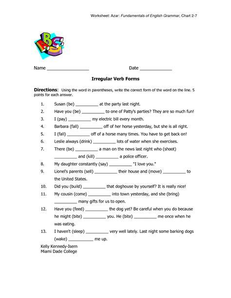 Irregular Verbs 3rd Grade Activities  Love To Teach Irregular Verb Activityirregular Verbs