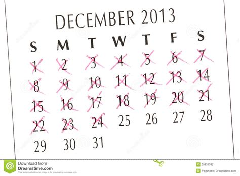 counting days calendar stock photo image