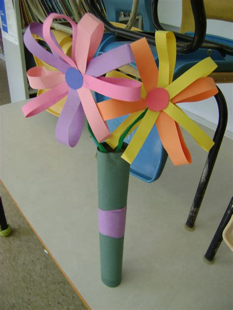construction paper flower bouquet kids mothers day
