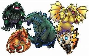 Classic Kaiju - Godzilla and Frienemies by ghostfire on ...