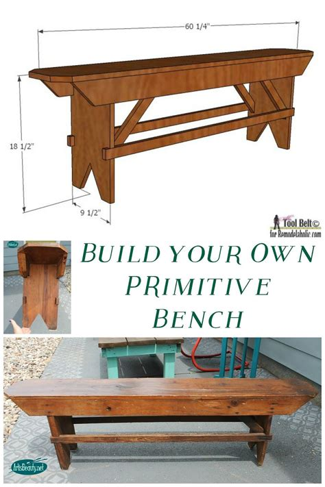 build   primitive bench country furniture