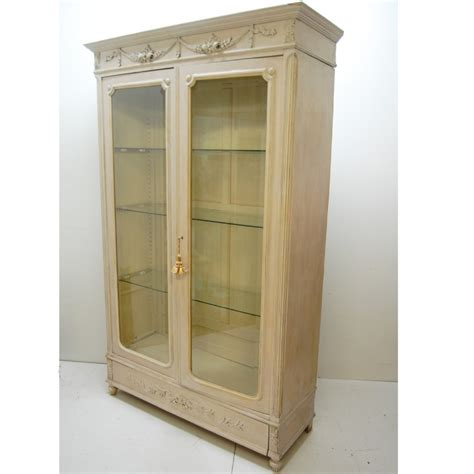 french armoire display cabinet antique french armoire bookcase display cabinet 262160