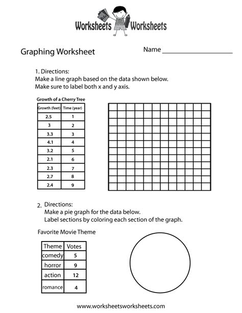 graph worksheet  printable educational worksheet