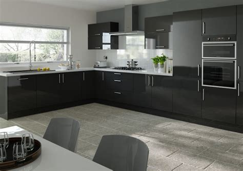 black gloss kitchen ideas lewes high gloss black kitchen doors from 5 48 made to