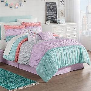 zoe reversible comforter set in purple www With bed bath and beyond kids comforter sets
