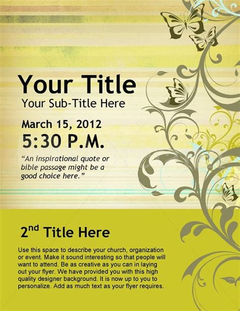 event flyer templates fine word templates