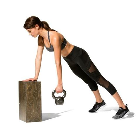 shape bent kettlebell row workout elevated exercise posture workouts slide fitness magazine