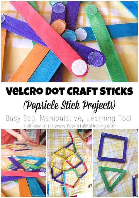 velcro dot craft sticks popsicle stick projects 462 | d1a6a2cede73c8c2ec1bae2ee3a91f58