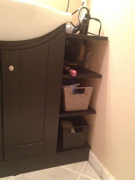 nice  shelves  fill  gap   vanity