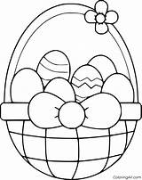 Easter Coloring Basket Pages Printable Sheets Printables Colouring Pasen Egg Bunny Happy Books Kleurplaten Baskets Crafts Easy Print Noodle Dental sketch template