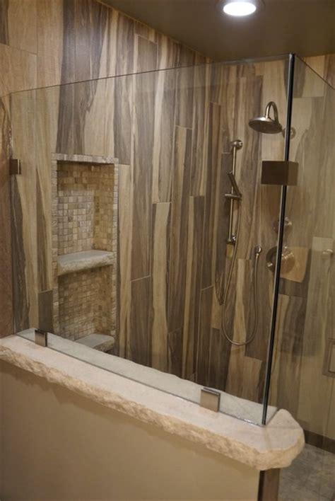 custom bathroom vanities ideas wood grain shower tile rustic other by jake built llc
