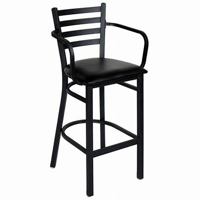 Bar Arms Metal Stool Ladder Counter Chairs