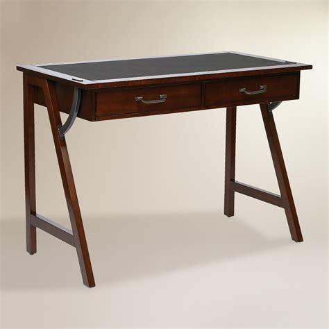 wood writing desk wood darcel writing desk world market