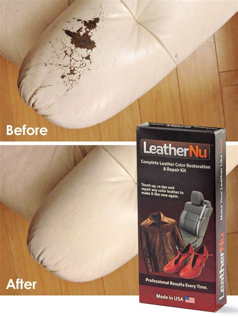 How To Restore Worn Leather by Leathernu Repair Kit Re Dye Repair Or Restore Worn