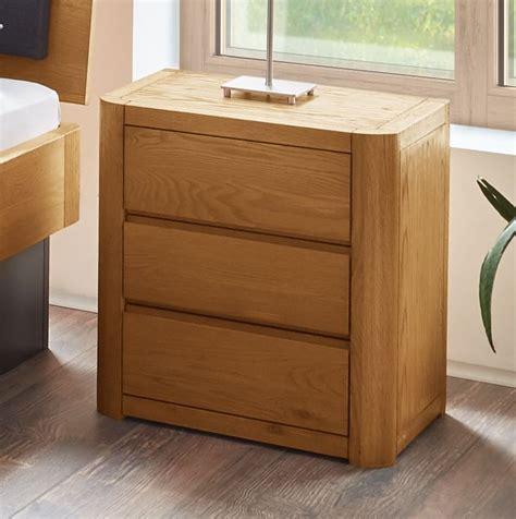 Nachttischle Aus Holz by Designer Nachttisch Aus Eiche Mit 3 Schubladen Lugo
