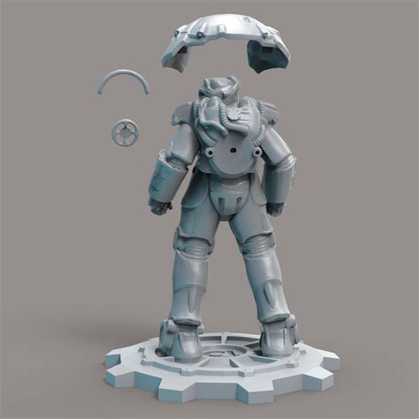 power armor    model  printable max fbx stl ztl