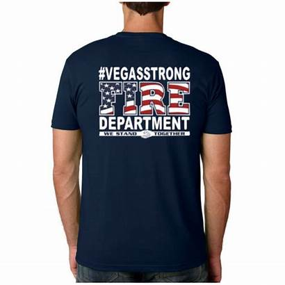 Vegas Strong Firefighters Duty Valley Tee Sleeve