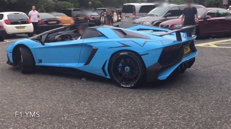 lamborghini aventador sv roadster 458 speciale start up launch control fast acceleration arab lamborghini aventador sv roadster start up revs close up youtube