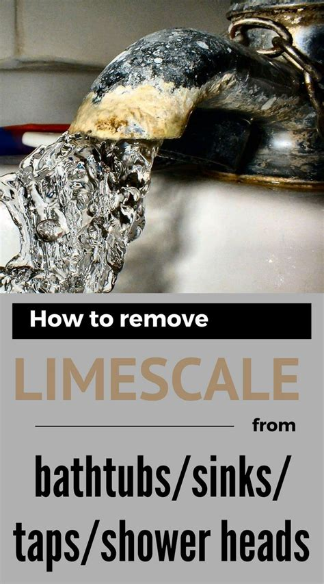 how to remove limescale from kitchen sink 201 best cleaning bathroom images on cleaning 9557