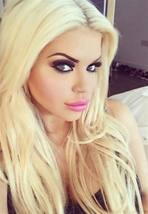 blonde hair makeup bleach face blondes lips platinum ellie bimbo hairstyles barbie missoni eye xhamster short instagram square eyes sluts
