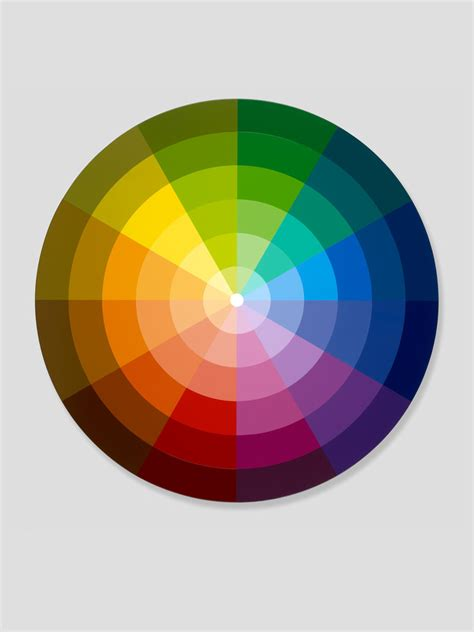 color ring monochromatic sectors from primary secondary tertiary