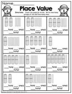 worksheets on place value for grade 1 1st grade math worksheets place value tens ones 1 math math worksheets