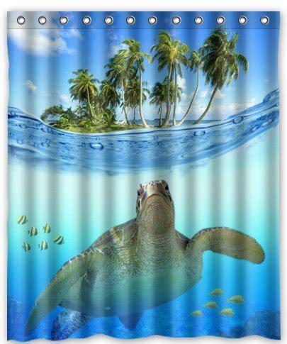 sea turtle shower curtain sea turtle bathroom decor