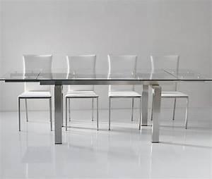 Table Verre Salle A Manger : table verre rallonge salle manger ~ Melissatoandfro.com Idées de Décoration