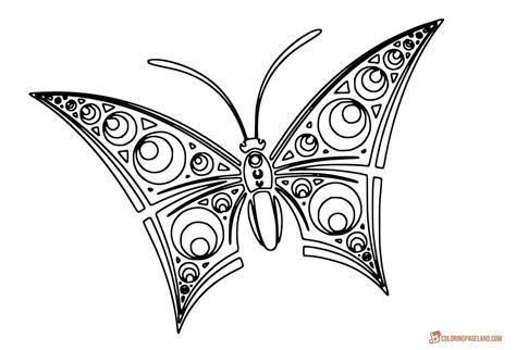 butterfly coloring pages print