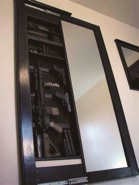gun safes guns  mirror  pinterest