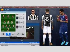 PES 2017 Option File Transfers 2018 For PTE Patch 60 by