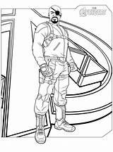 Coloring Avengers Marvel Superhero Widow Colouring Printable Comics Rocks sketch template