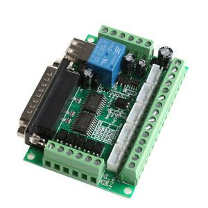 Axis Cnc Breakout Board With Optical Coupler For Mach