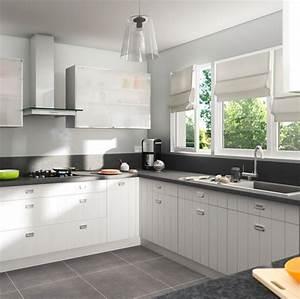 Cuisine castorama zadig bois blanc photo 17 20 for Idee deco cuisine avec meuble scandinave bois et blanc