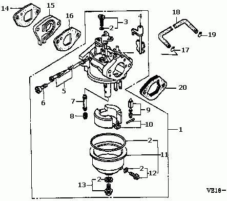 Honda Small Engine Carburetor Diagram Automotive Parts