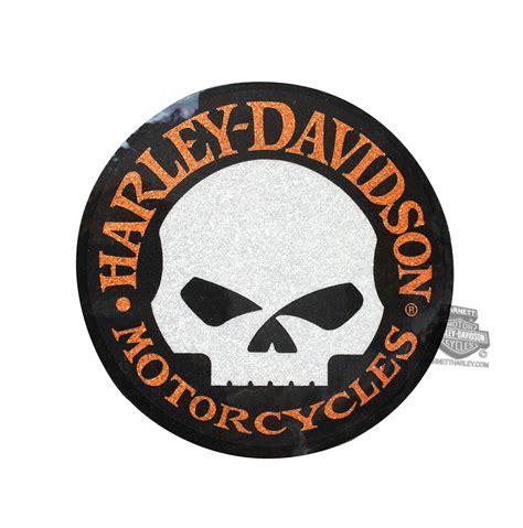 pu  harley davidson willie  skull  glitter